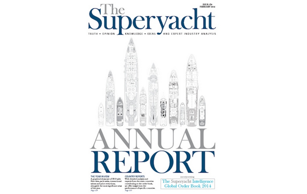 CR DESIGNS FEATURE ON THE SUPERYACHT ANNUAL REPORT COVER image